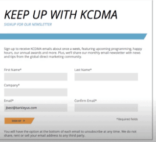 kcdma email marketing example